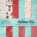 PAPIER SCRAP LL 30,5*30,5 WINTER FUN ZESTAW