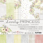 Papier scrap Craft O'Clock 30,5*30,5 Lovely Princess Zestaw