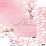 Papier scrap Craft Passion 30,5*30,5 Cute Bunny Girl 01