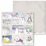 PAPIER SCRAP LL 30,5*30,5 ARCTIC SWEETIES 06