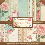 PAPIER SCRAP STAMPERIA 30,5*30,5 170G A'10 SBBL04 WINTAGE ROSE
