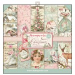 PAPIER SCRAP STAMPERIA 20,3*20,3 170G A'20 SBBLQ01 SWEET CHRISTMAS