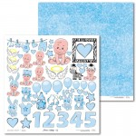 PAPIER SCRAP LL 30,5*30,5 EMMA & BILLY 02