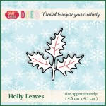 WYKROJNIK CRAFT&YOU CW014 HOLLY LEAVES / OSTROKRZEW