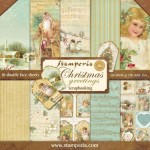 PAPIER SCRAP STAMPERIA 30,5*30,5 170G A'10 SBBL15 CHRISTMAS GREETINGS
