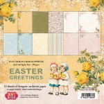 PAPIER SCRAP C&Y 30,5*30,5 A'12ARK EASTER GREETING