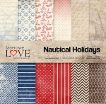 PAPIER SCRAP LL 30,5*30,5 NAUTICAL HOLIDAYS ZESTAW