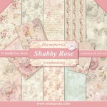PAPIER SCRAP STAMPERIA 30,5*30,5 170G A'10 SBBL12 SHABBY ROSE