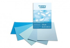 BLOK DECO HAPPY COLOR A4 170G 20K BLUE 5KOL