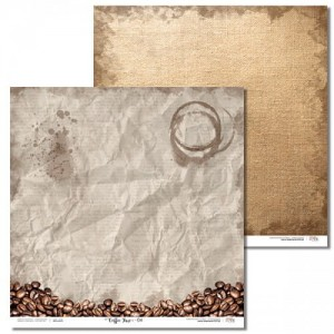 PAPIER SCRAP LL 30,5*30,5 COFFEE TIME 04