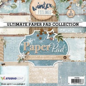 PAPIER SCRAP SL 15*15 170G A'36ARK PPWF90 Winter Feelings