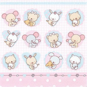 SERWETKA LUZ 33*33 HOME F. 211414 LITTLE FAMILY GIRL