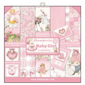 PAPIER SCRAP STAMPERIA 30,5*30,5 170G A'10 SBBL41 BABY GIRL