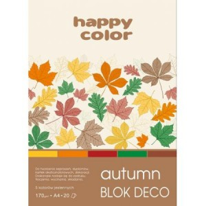 BLOK DECO HAPPY COLOR A4 170G 20K AUTUMN 5KOL