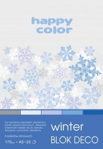 BLOK DECO HAPPY COLOR A5 170G 20K WINTER 5KOL