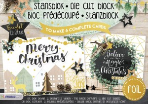 BLOK KREATYWNY STUDIO LIGHT A5 Bright Christmas nr 15