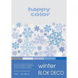 BLOK DECO HAPPY COLOR A4 170G 20K WINTER 5KOL