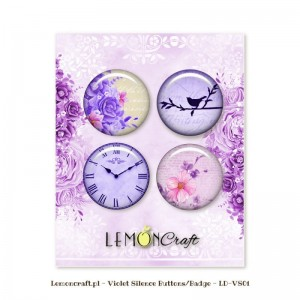 Badziki / Buttony LEMON Craft a'4szt Violet Silence