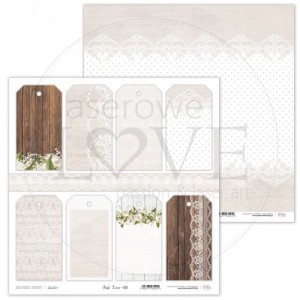 PAPIER SCRAP LL 30,5*30,5 FIRST LOVE 03