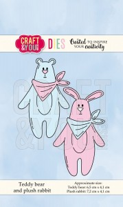 Wykrojnik CRAFT&YOU CW066 Teddy bear and plush rabbit
