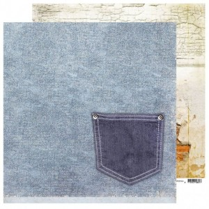 PAPIER SCRAP SL 30,5*30,5 DENIM SATURDAYS DEN04