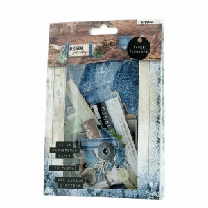 EL. Z PAP. STUDIO LIGHT Die Cut Set nr 645 Denim Saturdays