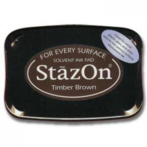 STAZON INK PAD JET BROWN SZ-41