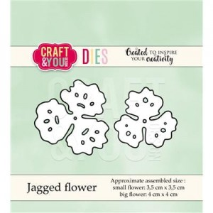 WYKROJNIK CRAFT&YOU CW040 JAGGED FLOWER / KWIAT