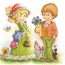 SERWETKA LUZ 33*33 HOME F. 211505 FIRST LOVE