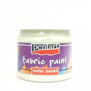 Farba do tkanin Pentart 50ml Fabric Paint Pearl white