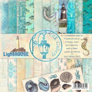 PAPIER SCRAP UHK 15*15  LightHOUSE a'19szt