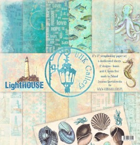 PAPIER SCRAP UHK 30,5*30,5 LightHOUSE a'6szt