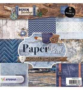 PAPIER SCRAP SL 15*15 170G A'36ARK PPDEN103 Denim Saturdays