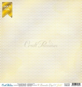 PAPIER SCRAP Craft Passion 30,5*30,5 ROMANTIC DAY 01 GOLD