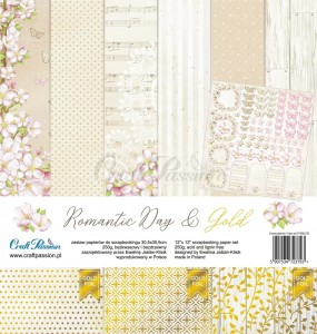 PAPIER SCRAP Craft Passion 30,5*30,5 ROMANTIC DAY zestaw