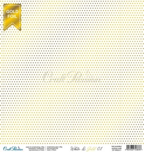 PAPIER SCRAP Craft Passion 30,5*30,5 WHITE 01 GOLD