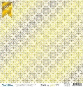 PAPIER SCRAP Craft Passion 30,5*30,5 WHITE 02 GOLD