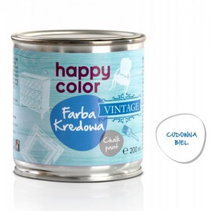 Farba kredowa Happy Color Vintage 200ml Cudowna biel
