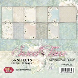 Papier scrap Craft & You 15,2*15,2 a'36ark Sweet Time