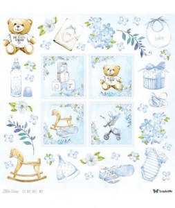 Papier ScrapAndMe 30x30 Little Cuties Boy (dodruk)