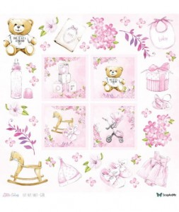 Papier ScrapAndMe 30x30 Little Cuties Girl (dodruk)