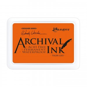 Archival Ink Pad Tiger Lily