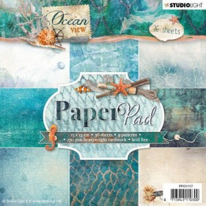 Papier scrap Studio Light 15*15 170g a'36ark PPOV117 Ocean view
