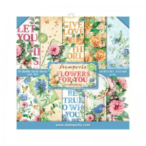 Papier scrap Stamperia 20,3*20,3 190g a'10 SBBS05 Flowers For You