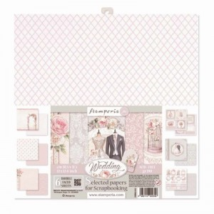 Papier scrap Stamperia 30,5*30,5 190g A'6 SBBKL602 Wedding