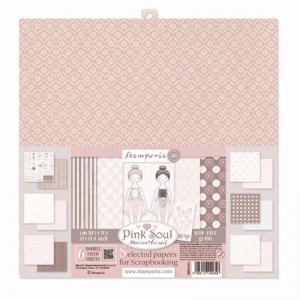 Papier scrap Stamperia 30,5*30,5 190g A'6 SBBKL603 Pink Soul