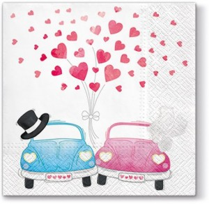 SERWETKA LUZ 33*33 PAW SDL042600 Cars in Love