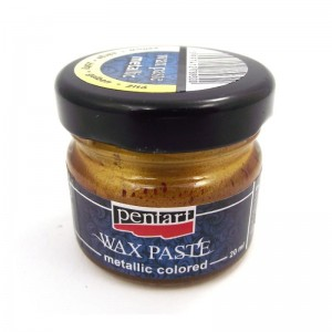 PASTA WOSKOWA PENTART WAX PASTE 20ML METALLIC YELLOW