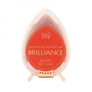 BRILLIANCE DROP ROCKED RED GOLD BD-000-096