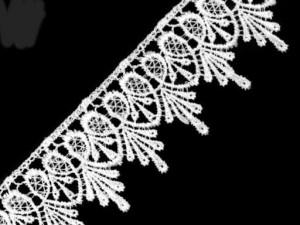 Koronka gipiurowa 5,3 cm Biała
